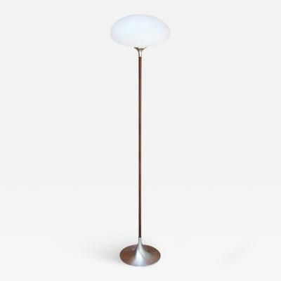Laurel Lamp Company Mushroom Style Floor Lamp with Rosewood Stem by Laurel Lighting
