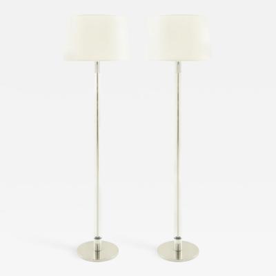Laurel Lamp Company Pair of Tubular Glass Floor Lamps by Laurel 1960s