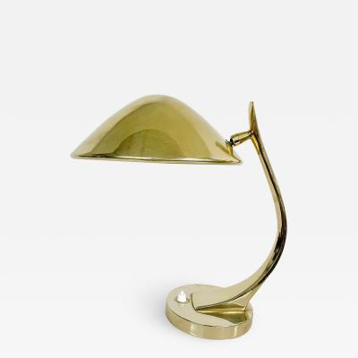 Laurel Lamp Company Sculptural Laurel Desk Table Mid Century Modern Brass Plated Finish