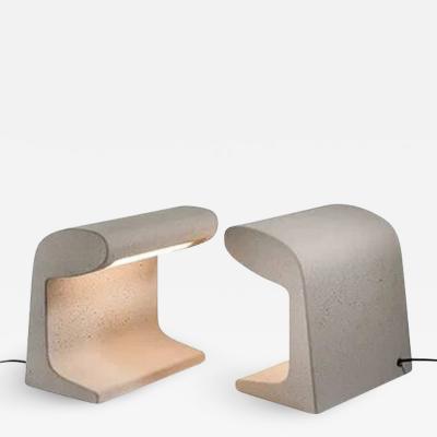 Le Corbusier BORNE B TONE PETITE CAST CONCRETE TABLE LAMP BY LE CORBUSIER WITH LED BULB