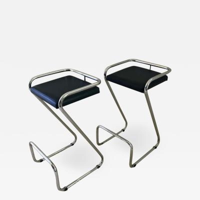 Le Corbusier Jeanneret Perriand Pair of Charlotte Perriand Style Bar Stools Kitchen Stools