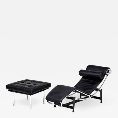Le Corbusier LC4 Style Chaise Together with Ottoman