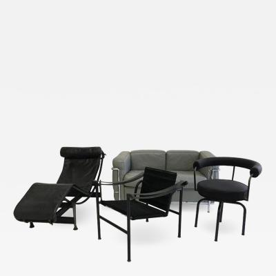 Le Corbusier Set of Seats Le Corbusier Charlotte Perriand Old Edition Cassina