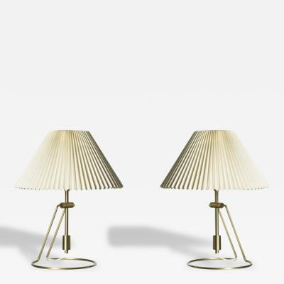 Le Klint Pair of Brass Le Klint Table Lamp from Denmark
