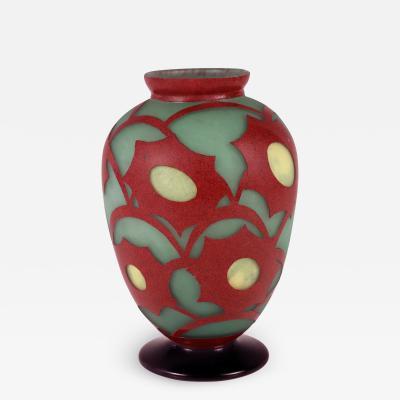 Le Verre Francais Art Deco vase by Le Verre Francais