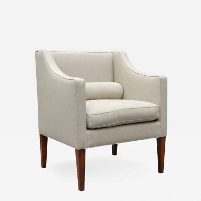 Lee Stanton Editions Wilton Arm Chair Upholstered in Belgian Linen