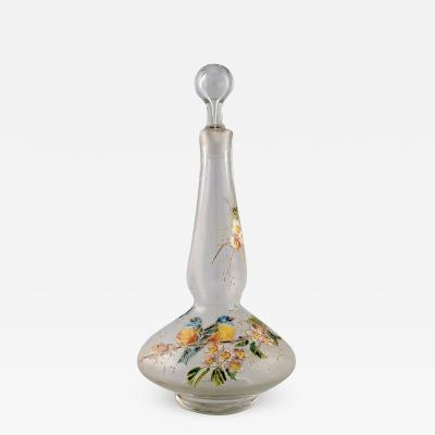 Legras Legras France Carafe with hand painted enamel decoration