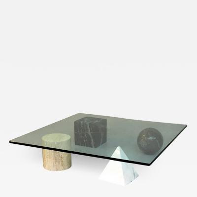 Lella Massimo Vignelli Metafora coffee table by Lella and Massimo Vignelli 1979