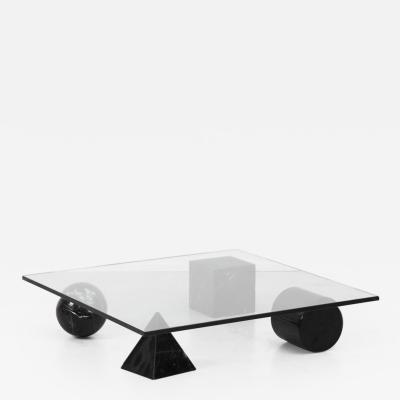 Lella Massimo Vignelli Vignelli metafora table in black Casigliani Italy 1979