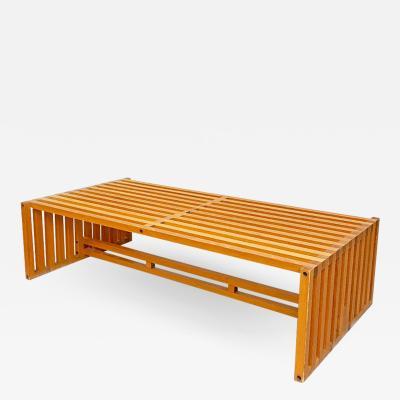 Lella Massimo Vignelli Wood coffee table mod Ara by Lella and Massimo Vignelli for Driade 1970s