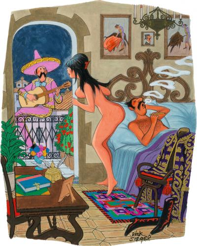 Leo Dink Siegel Playboy cartoon But Don Carlos