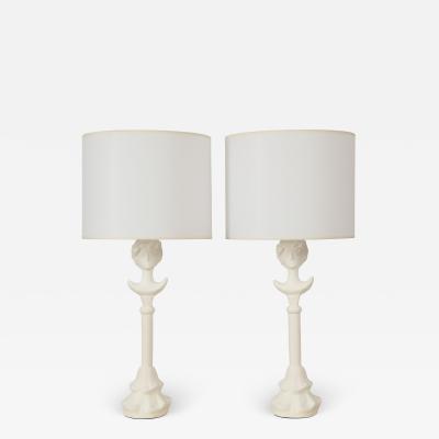 Lerebours Bespoke Custom Plaster Gio Table Lamps
