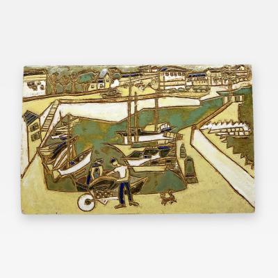Les Argonautes Ceramic Panel France Vallauris 1960s
