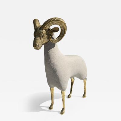Les Lalanne Brass Ram Sculpture