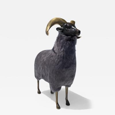Les Lalanne Brass Ram Sheep Sculpture