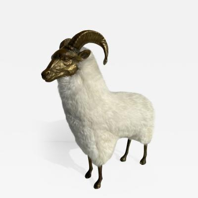 Les Lalanne Brass Sheep or Ram Sculpture