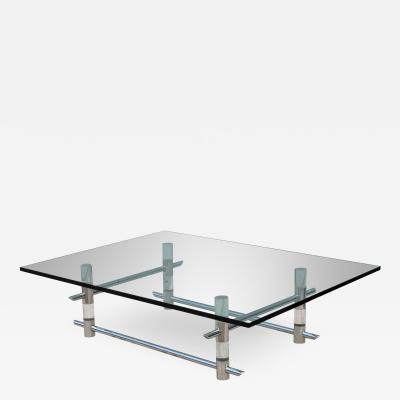 Les Prismatiques 1970s Les Prismatiques Lucite And Chrome Coffee Table