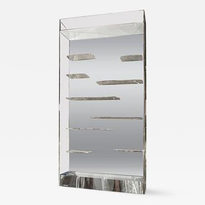 Les Prismatiques Stunning Les Prismatiques Free Floating Shelves and Mirror Wall Vitrine