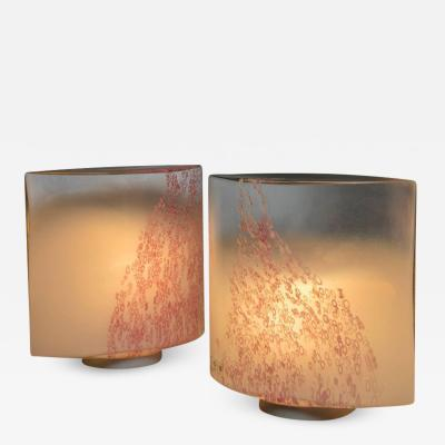Leucos Pair of Idra Table Lamps by Toso for Leucos