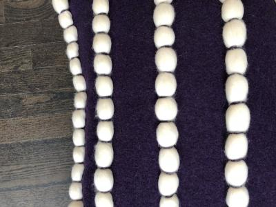 Lido Purple Wool Pillow
