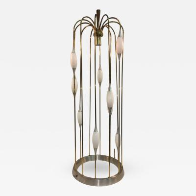 Lightolier Great Mid Century Cage Form Design Floor Lamp by Lightolier