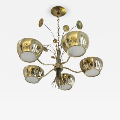 Lightolier Lightolier Brass Chandelier