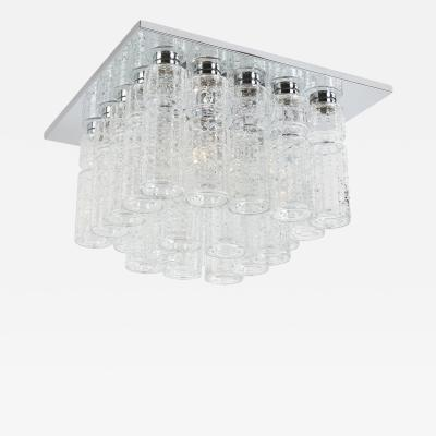 Lightolier Lightolier Chrome and Glass Flush Mount Ceiling Fixture