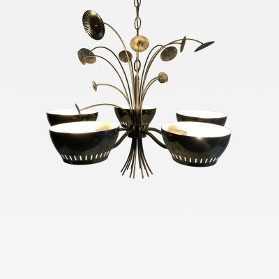 Lightolier MID CENTURY CHANDELIER IN THE MANNER OF PAAVO TYNELL