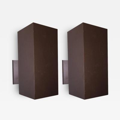Lightolier Mid Century Modern Bronze Powder Coated Sconces