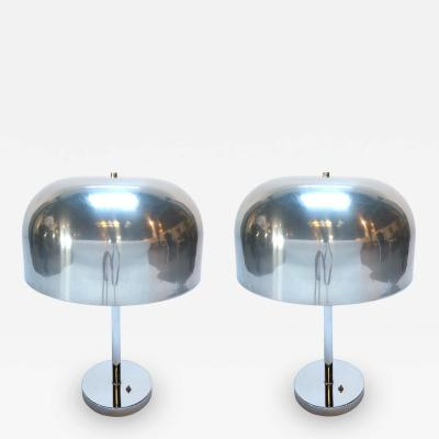 Lightolier Pair of 1970s Lightolier Aluminum Table Lamps