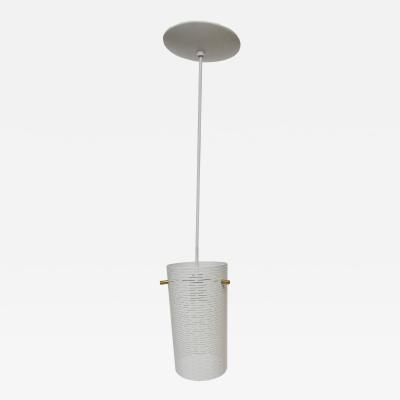 Lightolier Perforated Steel Pendant Light by Lightolier