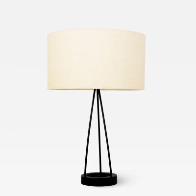 Lightolier Robert Bulmore Tripod Metal Table Lamp Mid Century 1960s