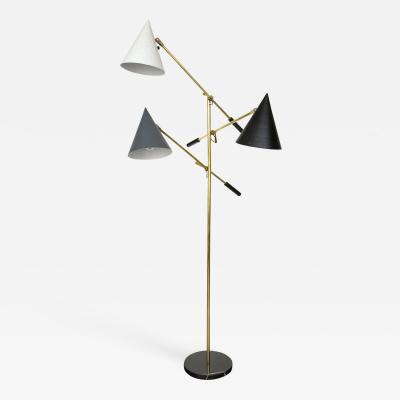 Lightolier Vintage Three Arm Lightolier Floor Lamp
