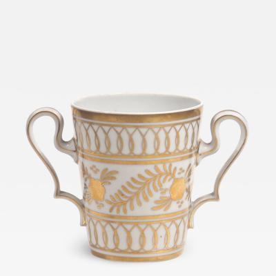 Limoges Limoges Porcelain and Gilt Loving Cup Posy Vase