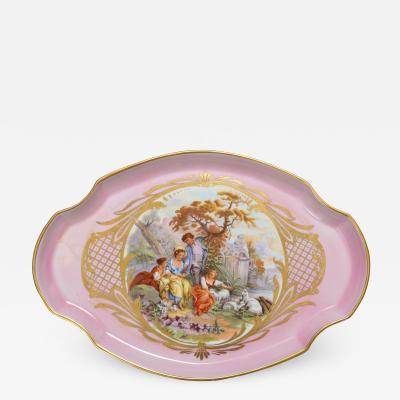 Limoges Paris Pink Porcelain Tray