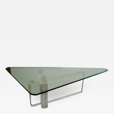 Lion in Frost Fabulous Lucite and Glass Coffee Table by Lion In Frost signed