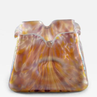 Loetz Art Nouveau Iridescent Oil Spot Glass Dimpled Vase