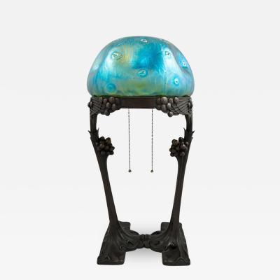Loetz Loetz Gustav Gurschner Lamp Rusticana Vienna ca 1902 Art Nouveau
