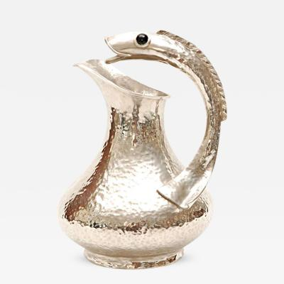 Los Castillo Hand Chased Silver Plate Pitcher by Los Castillos