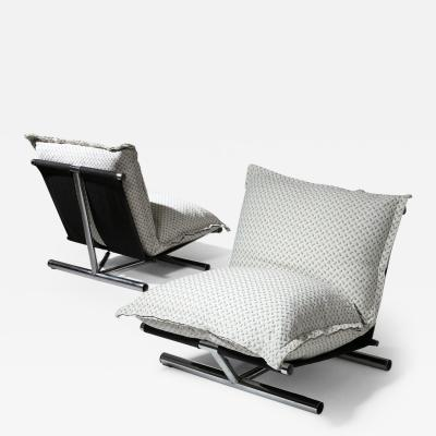 Lucci Orlandini Pair of Le Farfalle Lounge Chairs by Lucci Orlandini for Elam