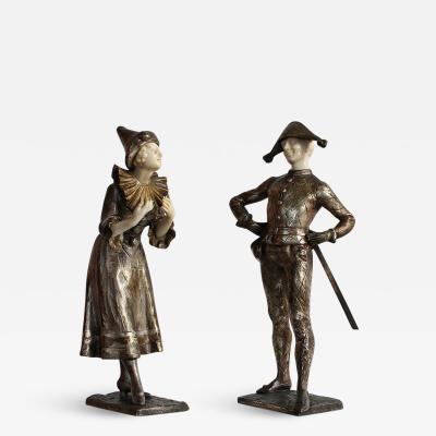 Luce LUCE Sculptures depicting Harlequin Columbine