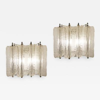 Lumenform Pair of Murano Glass Sconces by Lumenform