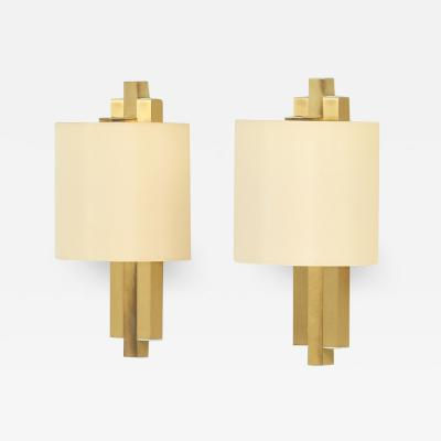 Lumica Pair of Brass Sconces by BD Lumica Spain