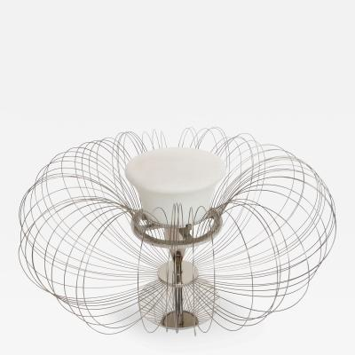 Luminara 1970s Italian Sculptural Metal Flower Table Lamp from Luminara