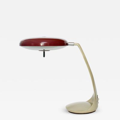 Lupela LUPELA DESK LAMP IN RARE RED COLOR SPAIN 1950S