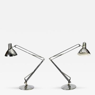 Luxo Pair of Chrome Desk Table Lamps by Luxo