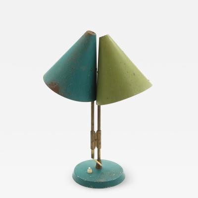 Lyfa 1959 Bent Karlby Mosaik Adjustable Brass Lacquered Metal Table Lamp for Lyfa