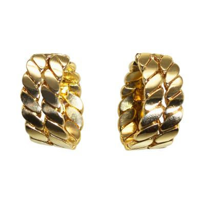 M G rard Pair of 18 Karat Gold Hoop Earclips by M Gerard