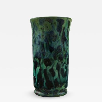 M ller B gley Art nouveau vase in glazed ceramics Beautiful and unusual decoration