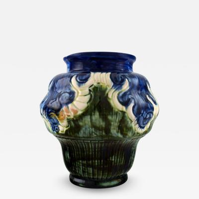 M ller B gley M ller B gely Denmark art nouveau pottery vase of glazed ceramics